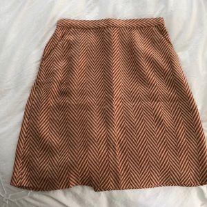 Tucker for target orange and cream fall skirt